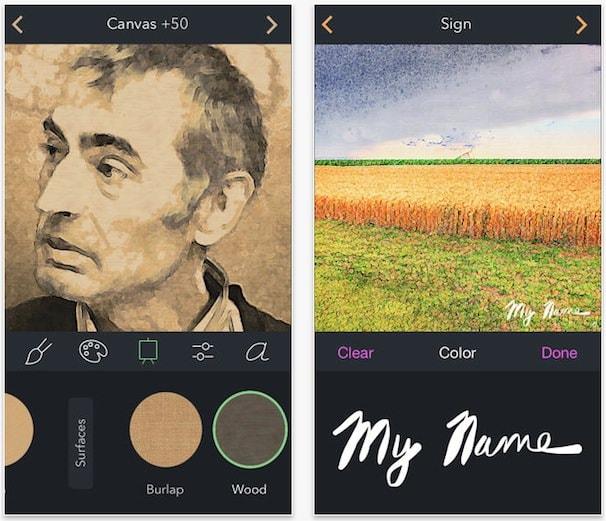 brushstroke - из фото живопись на iphone ipad