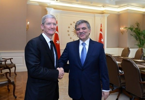Тим Кук и президент Турции