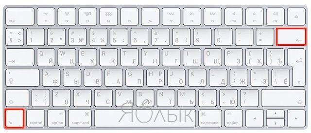 Есть ли клавиша Delete (как в Windows) на macOS?