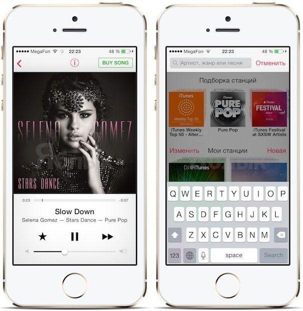 iTunes Radio в iOS 7.1