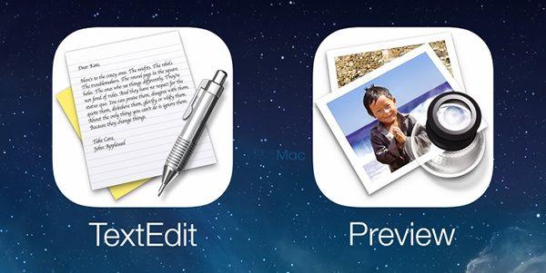 iOS8 получит приложения TextEdit и Просмотр