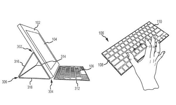 Патент клавиатуры для iPad Smart Cover