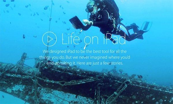 Подводная реклама iPad