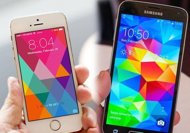 samsung galaxy s 5 против iphone 5s
