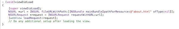 Код для UIWebView