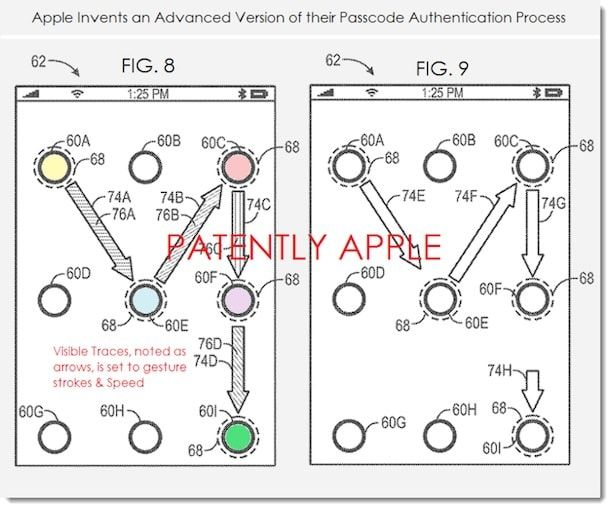 Apple запатентовала разблокировку жестами