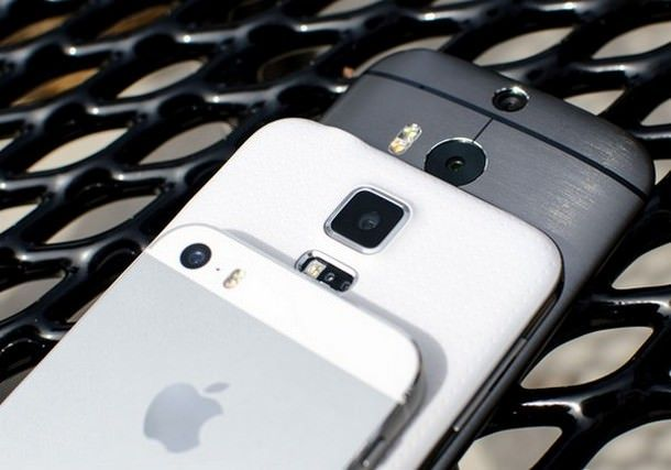 iPhone 5s vs Samsung Galaxy S5 vs HTC One (M8)