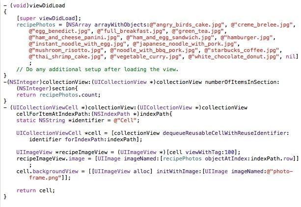 Код сетки Xcode
