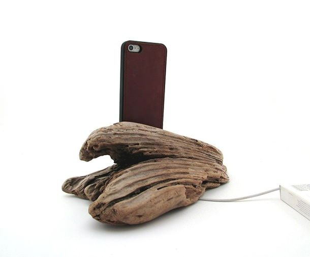 iPhone 5 Cedarwood Docking Station back