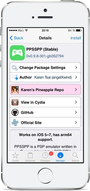 эмулятора PSP для iOS 7