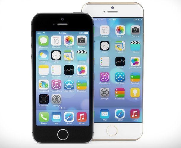 Концепт iPhone 6 от Мартина Хайека в сравнении с iPhone 5s