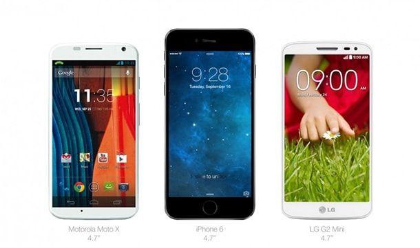 iphone 6 Motorola LG