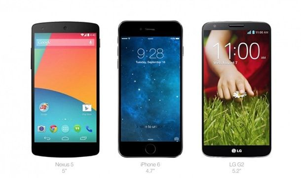 iPhone 6 Nexus LG