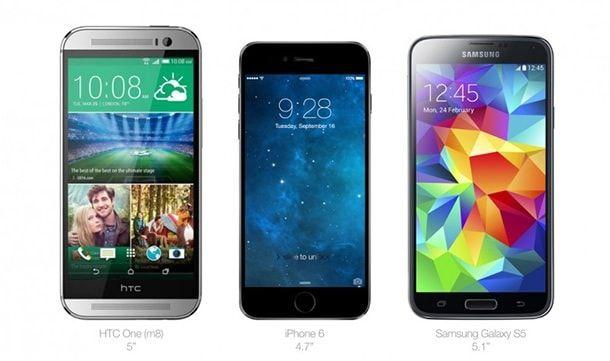 iPhone 6 HTC Samsung