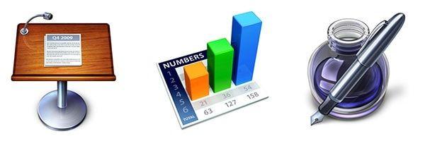 Иконки Keynote Numbers PagesИконки Keynote Numbers Pages