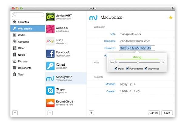 locko - менеджер паролей для mac os x