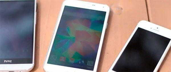 Краш тест Samsung Galaxy S5 HTC One и iPhone S5