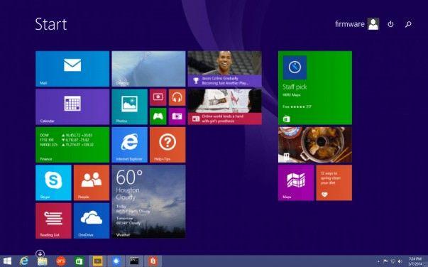 Taskbar Windows 8.1 update 1