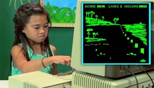 Дети покаряют Apple II