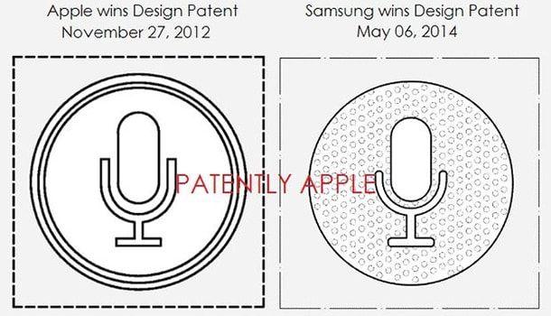 Samsung запатентовала копию логотипа Siri