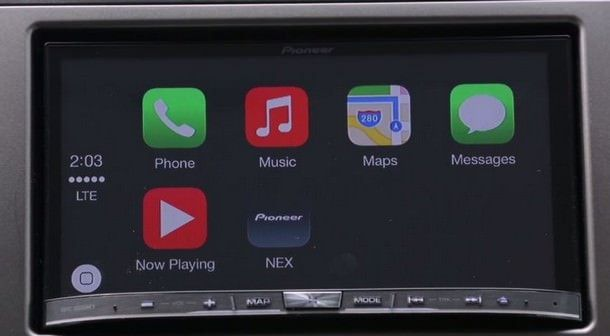 Pioneer внедряет поддержку CarPlay