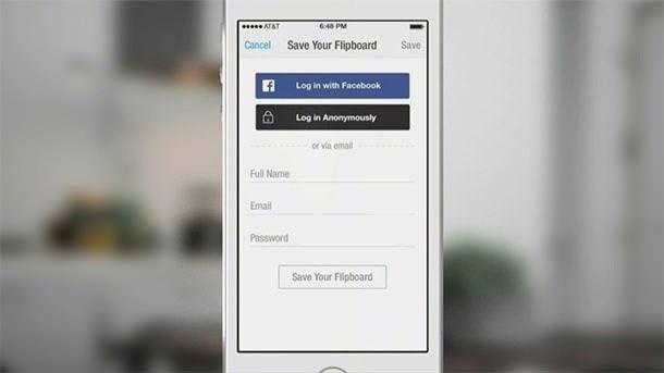 Кнопка анонимного входа Facebook