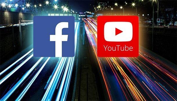 Доля мобильного траффика Youtube и Facebook
