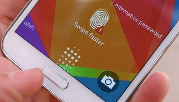 Сканер отпечатка пальца в Galaxy S5