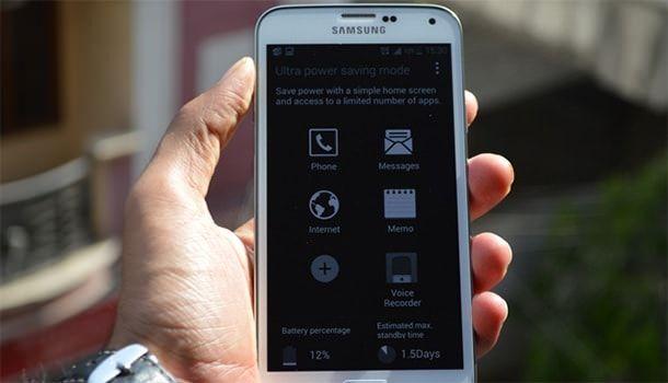 Режим сохранения энергии Galaxy S5