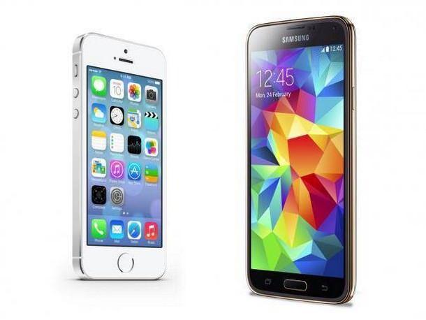Galaxy S5 над iPhone 5s