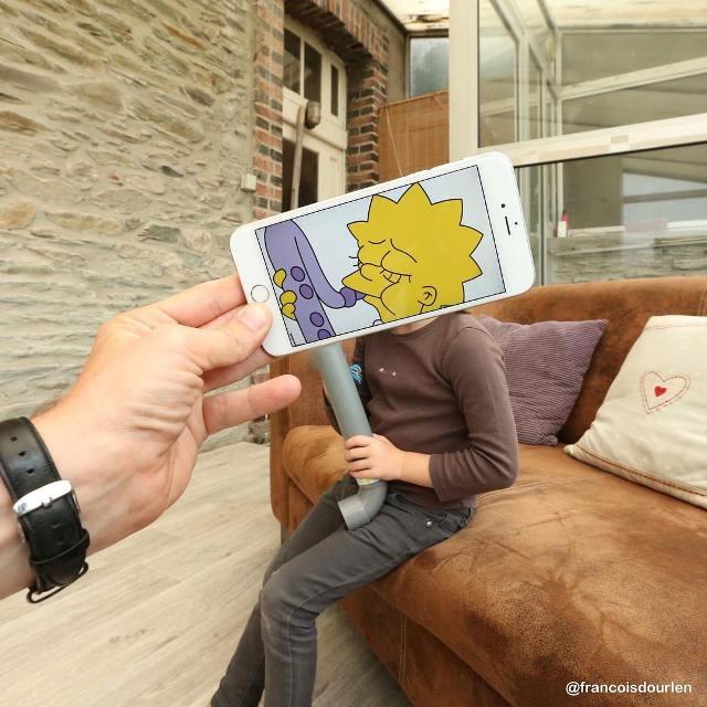 Дополненная реальность с помощью iPhone от фотографа Франсуа Дурлена (фото)