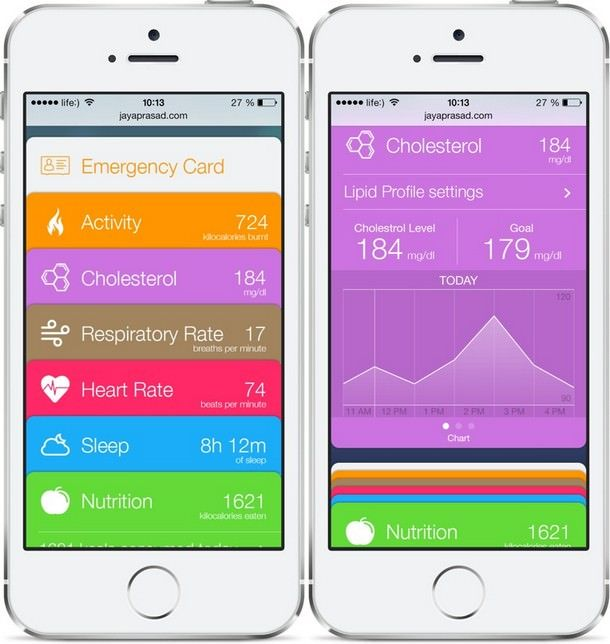 Healthbook из iOS 8