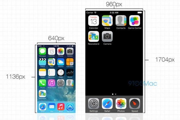 iOS 7 на 4,7-дюймовом iPhone 6