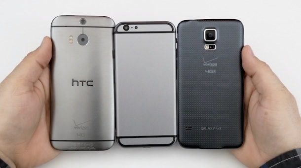 iPhone 6 htc one 8