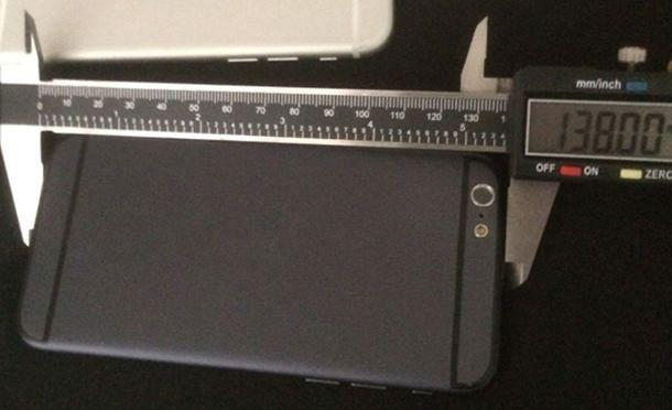 Высота iPhone 6