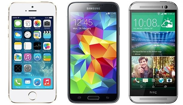 iPhone Samsung HTC