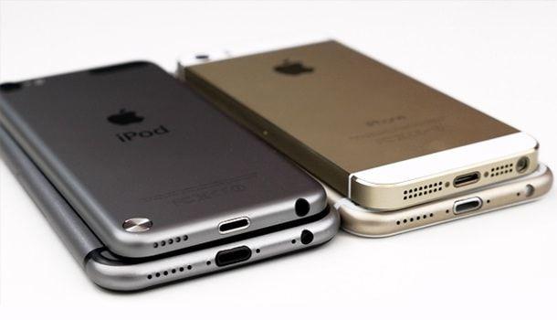 Серый и золотой iPhone 6