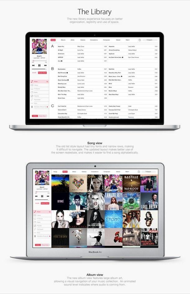 iTunes в стиле iOS 7