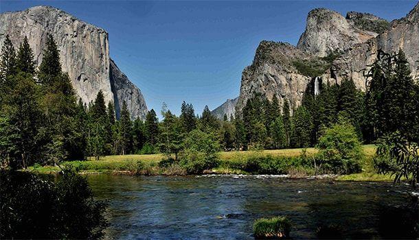 Национальный парк Yosemite в Калифорнии