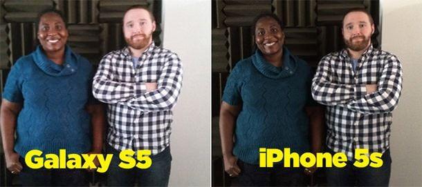 Сравнение снимков iPhone и Samsung