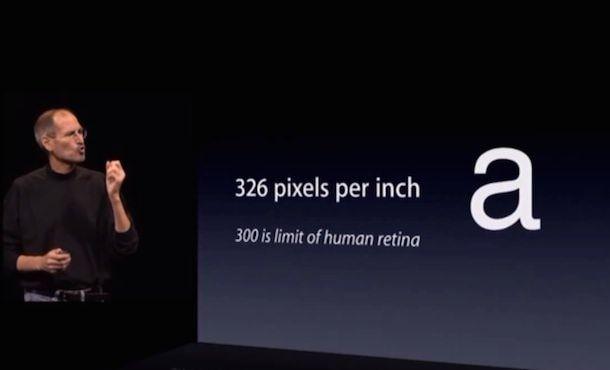 Стив Джобс Retina в iPhone 4