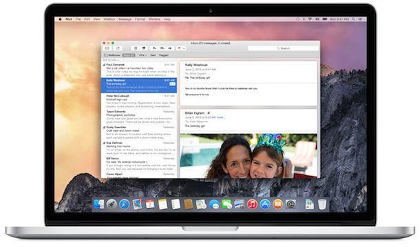 приложение Mail в OS X Yosemite