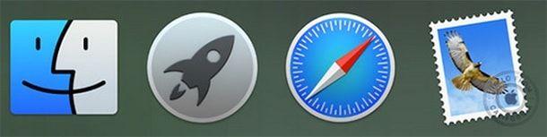find, launchpad, safari, mail