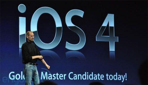 Стив Джобс на презентации iOS 4