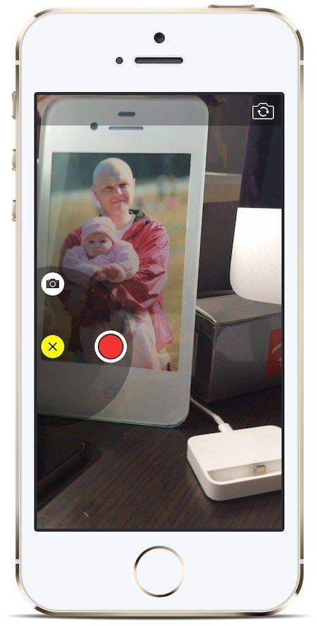 съемка видео и фото из приложения Сообщения в iOS 8
