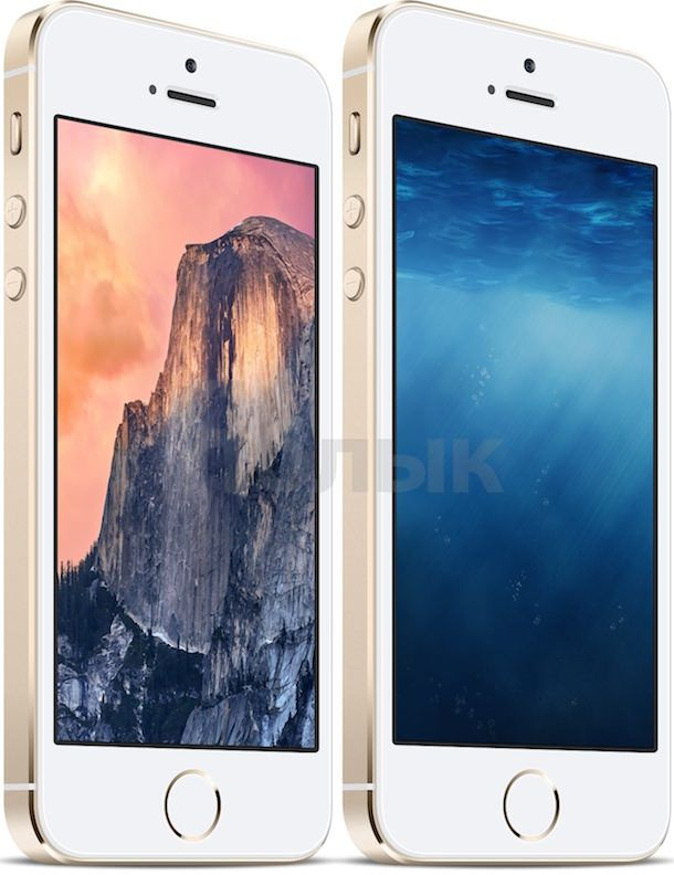 обои oS X 10.10 yosemite и iOS 8