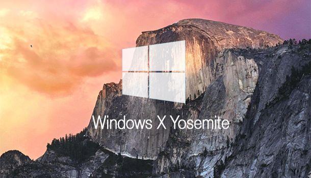 Windows в стиле OS X Yosemite