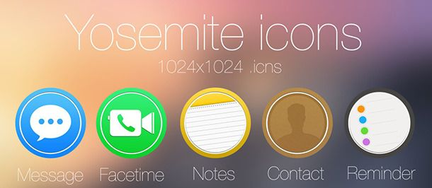 Иконки OS X Yosemite