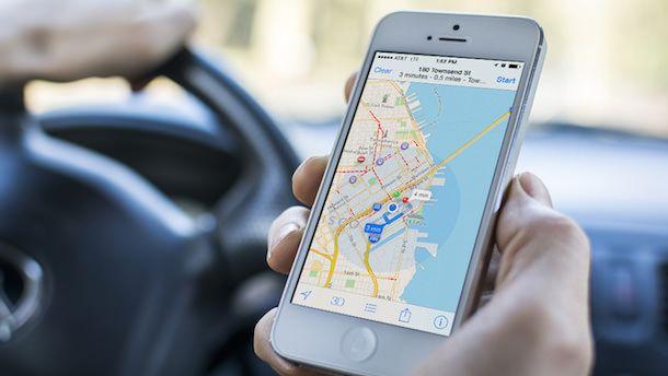 Карты Apple в машине