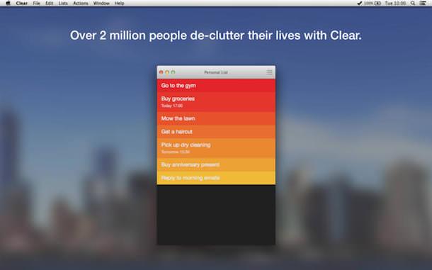 Clear для Mac